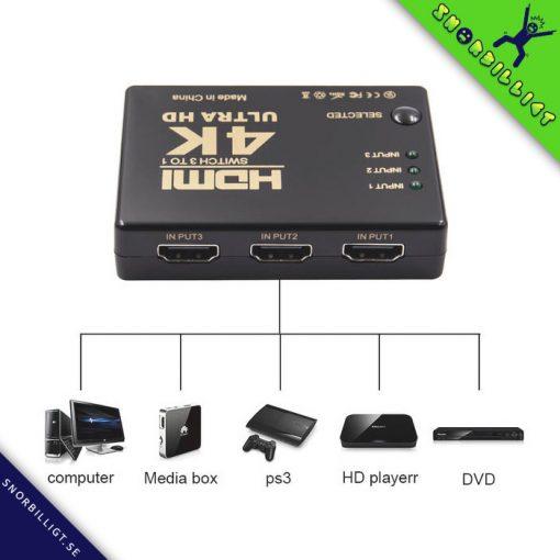 HDMI-Switcher Växlare 3x1